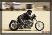 Rider Steve Bilock of Steve Bilock Racing on his 155.503 mph run