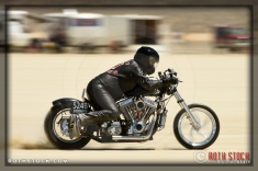 Rider Steve Bilock of Steve Bilock Racing on his 155.503 mph run