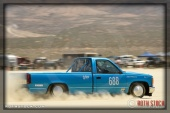 Driver Larry Lancaster of Lil Bit O Racing on his 138.614 mph run