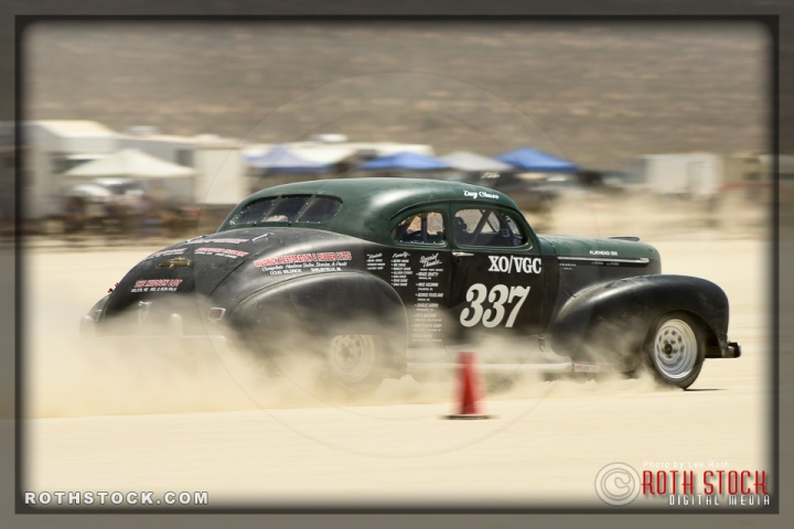 Driver Doug Chase of Chase Race on his 111.147 mph run