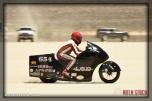 Rider John Lizarraga AKA J of El Duderino on his 151.001 mph run