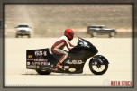 Rider John Lizarraga AKA J of El Duderino on his 151.001 mph run