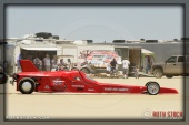 Driver Bud Free of Bud Free Racing on his 138.994 mph run