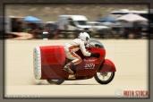 Rider Robert Smith of Baron Race Team on his 119.839 mph run