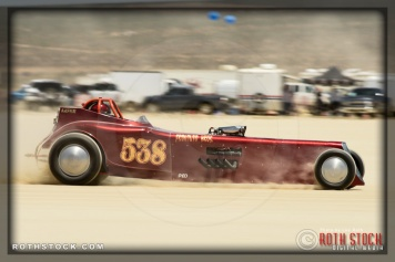 Driver Mark Johnson of Frontuto Bros. on his 89.324 mph run