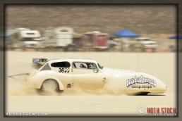 Driver Larry Foley Jr of NOTABUSA Comp Coupe on his 129.308 mph run