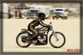 Rider Kristine Peach of Humble Bee on her 94.945 mph run