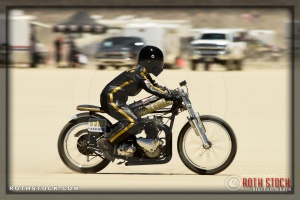 Rider Kristine Peach of Humble Bee on her 94.945 mph run