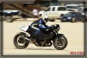 Rider Leslie Hoogerhyde of Hoogerhyde Honey on her 163.370 mph run