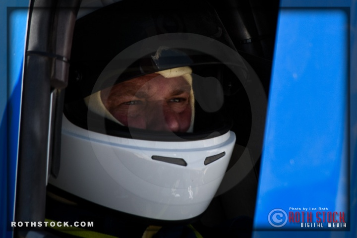 Driver Dan Chilson of Chilson Racing prepares for his 135.009 mph run