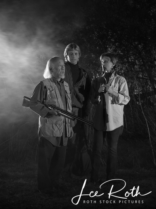 The Stoneman Production Stills - (L-R) Pat Morita, Christopher Atkins and Robin Riker