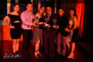 Salsa Dance Competition Winners (L-R: 2nd Place, 1st Place, 3rd Place)