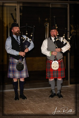 (L-R) Bagpipers Andrew Fusco and Sean Cahill Signal it's Time to Move to the Pavilion