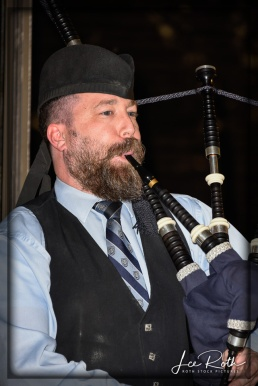 Bagpiper Andrew Fusco Signals it's Time to Move to the Pavilion
