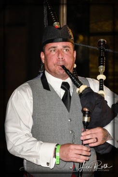 Bagpiper Sean Cahill Signals it's Time to Move to the Pavilion