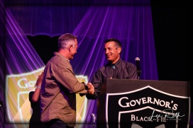 (LR) Sheriff Joe Lombardo and Nevada Governor Brian Sandoval
