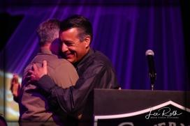 (LR) Sheriff Joe Lombardo and Nevada Governor Brian Sandoval