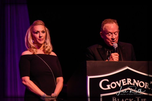 (L-R) Event Organizer Angela Porrello and Garry V. Goett, President, Southern Highlands Charitable Foundation
