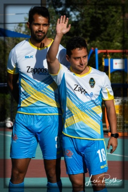 (L-R) Defender Miguel Angel Garduno and Forward Anuar Kanan: Las Vegas Lights FC