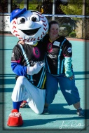 Mascot Homer and Renee: Team LV Lights