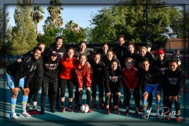 Members of the UNLV Rebels Women's Soccer Team