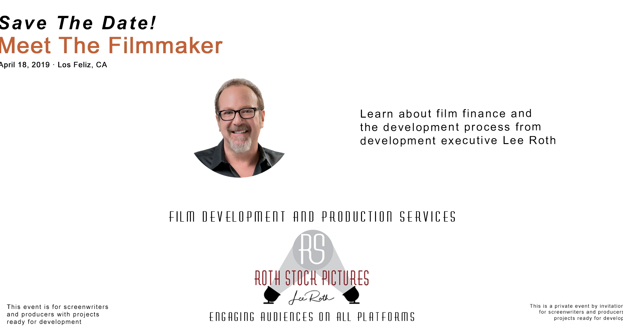 Save The Date - Meet Filmmaker Lee Roth!