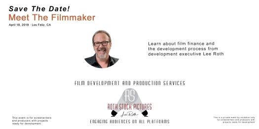 Save The Date - Meet Filmmaker Lee Roth!