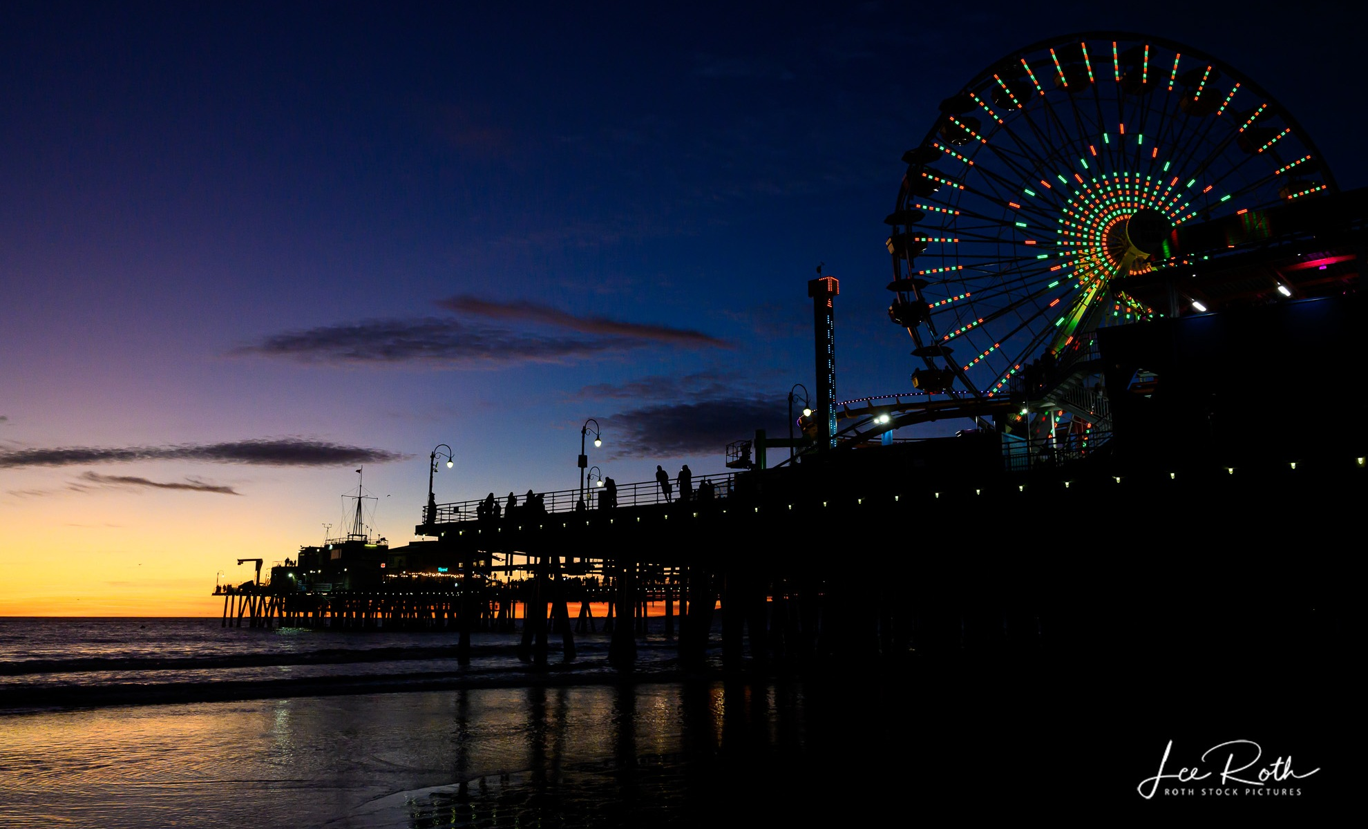 Santa Monica Pier Sunset on New Years Eve 2020